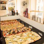 Salade bar pizzas